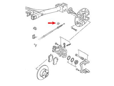 1992 Volkswagen Corrado Front Brake Rotor Removal Diagram