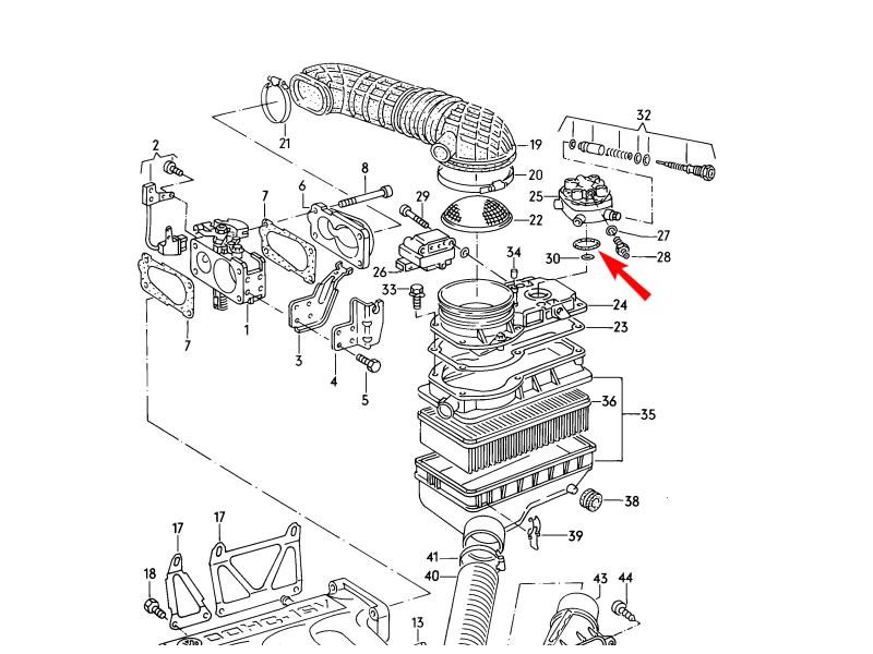jetta mk2 genuine vw fuel metering distributor valve o ring gasket nos