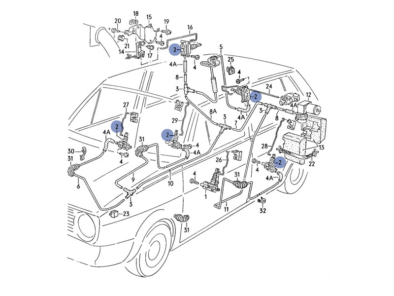 Passat Central Locking Ledningsdiagram