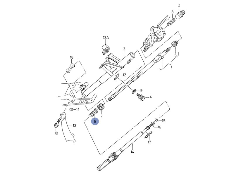 corrado steering system diagram