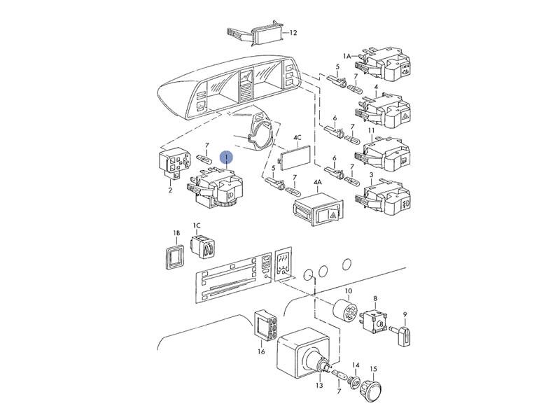 1975 vw bus shifter diagram