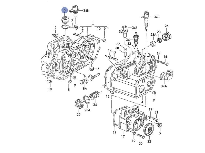 vw 020 transmission diagram  diagram  auto parts catalog