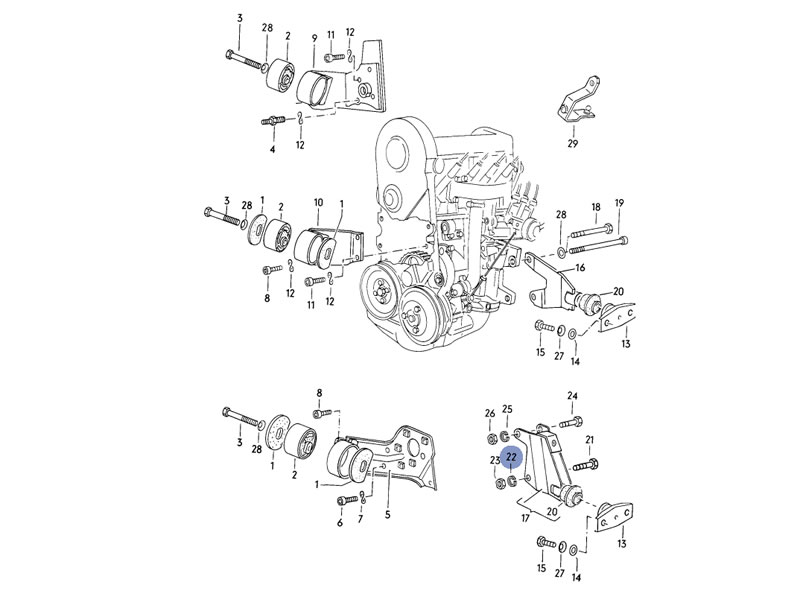 1988 porsche 944 engine diagram