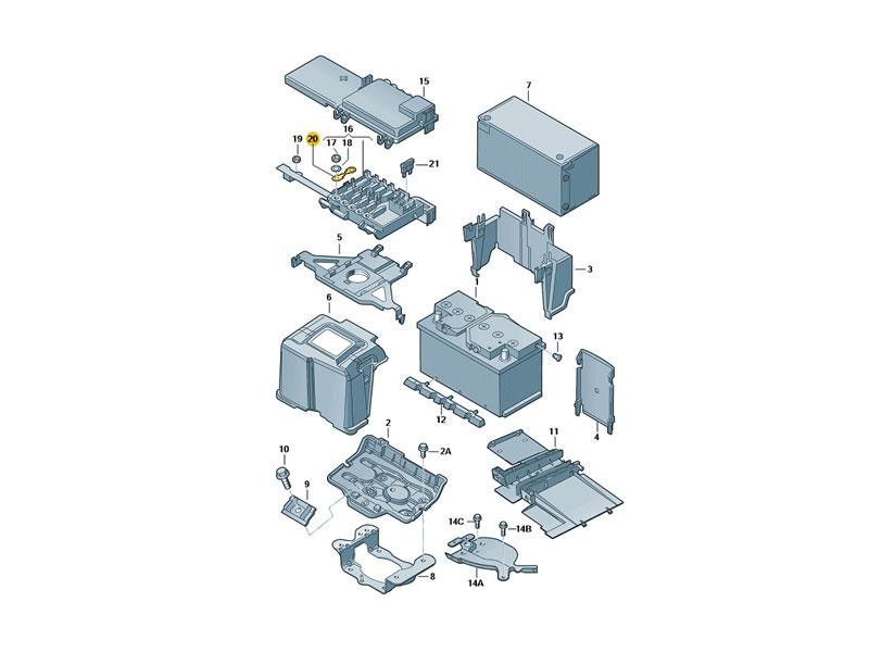 genuine vw fuse 50a n 10424903 ebay. Black Bedroom Furniture Sets. Home Design Ideas