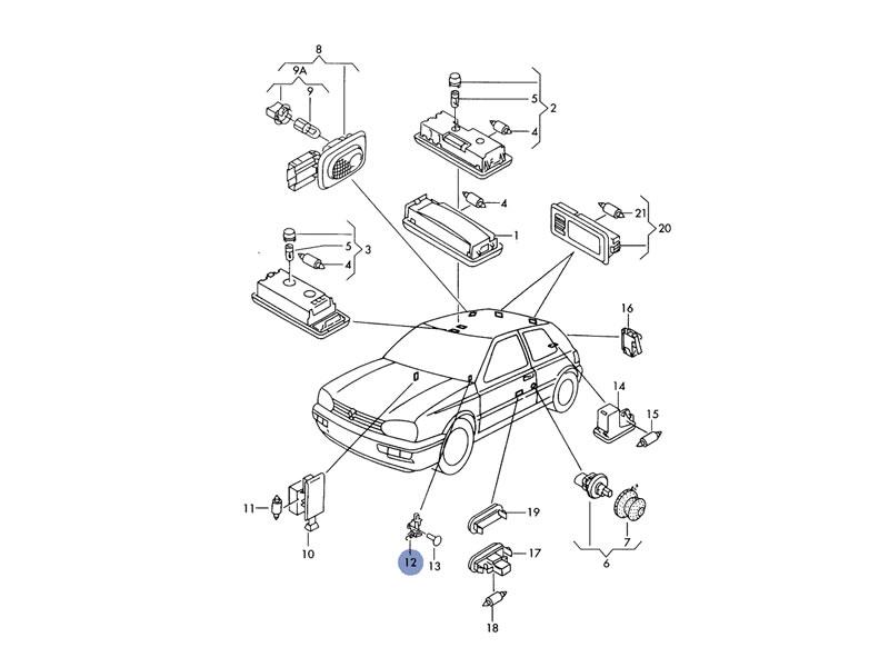 vento genuine vw hand park brake lever parking for sale on