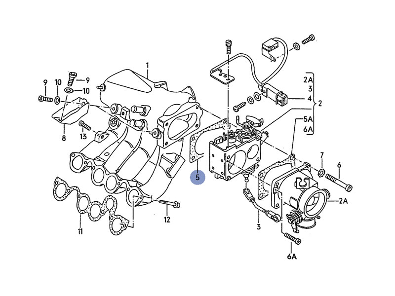 golf cabriolet mk1 genuine vw seal gasket intake manifold