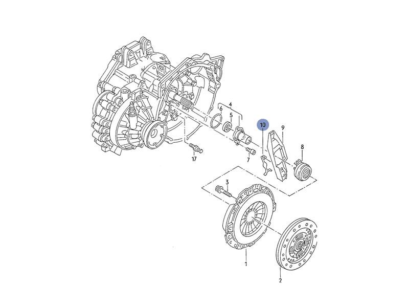 passat b6 genuine vw clutch operating lever retaining