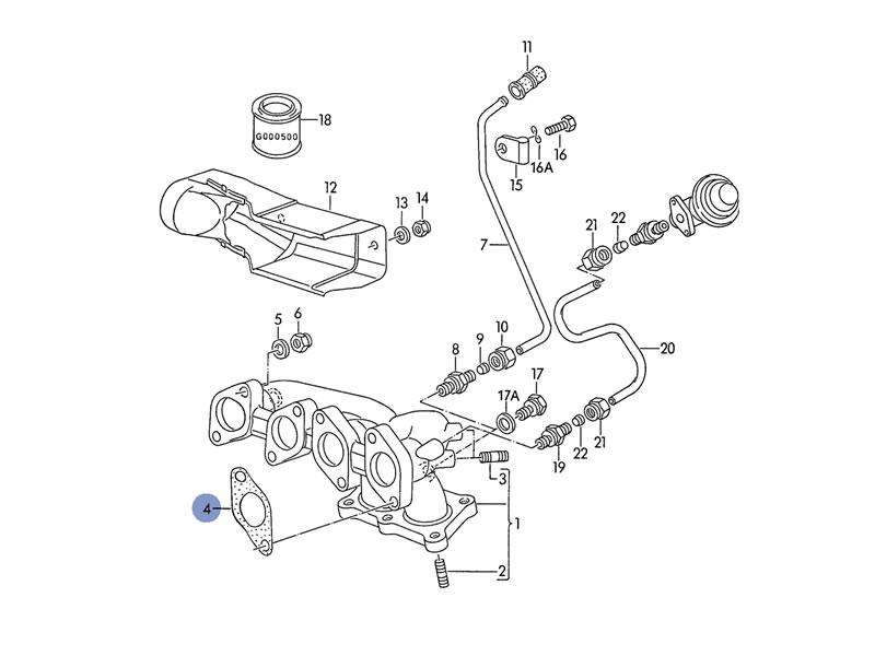 1992 vw jetta exhaust diagram