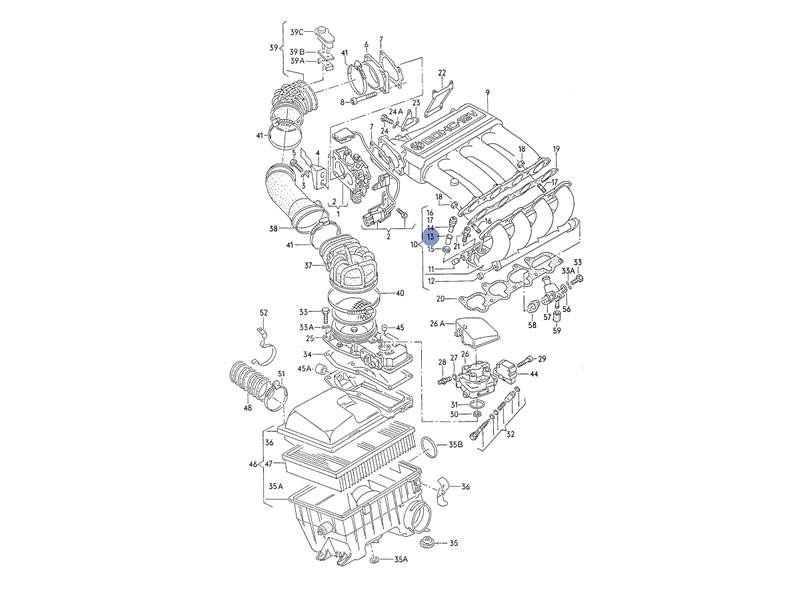 caddy mk1 genuine vw insert for injector sleeve 1 8 2 0