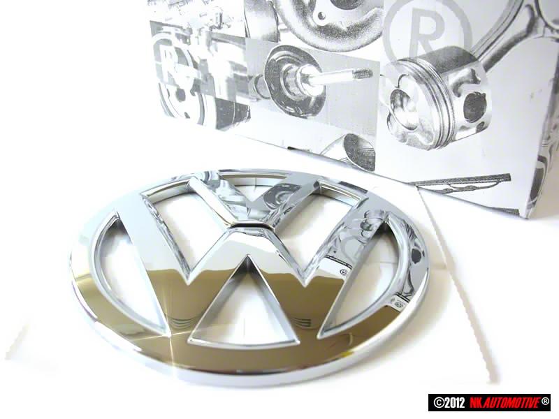 genuine vw front grill badge emblem chrome 1k8853600b 739 ebay. Black Bedroom Furniture Sets. Home Design Ideas